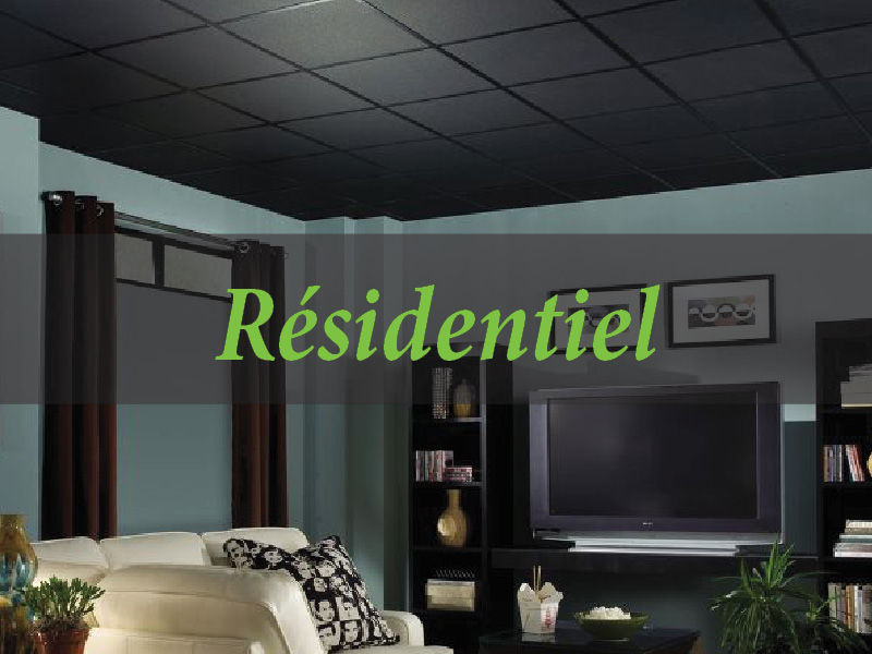 plafond-suspendu-tuile-résidentielle